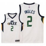 Maillot Enfants Utah Jazz NO.2 Joe Ingles Blanc Association 2018