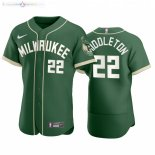Maillot NBA Bucks x MLB Manche Courte NO.22 Khris Middleton Vert 2020