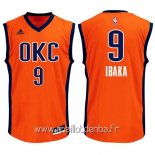 Maillot Oklahoma City Thunder No.9 Serge Ibaka Orange