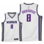 Maillot Enfants Sacramento Kings NO.8 Bogdan Bogdanovic Blanc Association 2018