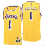 Maillot Los Angeles Lakers NO.1 D'Angelo Russell Retro Bleu