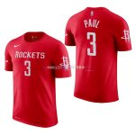 Maillot Houston Rockets Manche Courte NO.3 Chris Paul Rouge 2017/2018