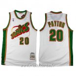 Maillot Seattle Supersonics No.20 Gary Payton Retro Blanc