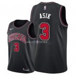 Maillot Chicago Bulls Nike NO.3 Omer Asik Noir Statement 2018
