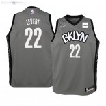 Maillot Enfants Brooklyn Nets NO.22 Caris Levert Gris Statement 2019/2020