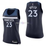 Maillot Femme Minnesota Timberwolves NO.23 Jimmy Butler Marine Icon