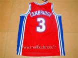 Maillot Film Basket-Ball Bel Air Academy No.3 Cambridge Rouge