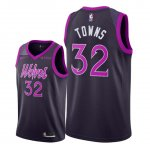 Maillot Minnesota Timberwolves Nike NO.32 Karl Anthony Towns Pourpre Ville 2018/19