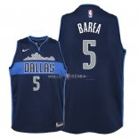 Maillot Enfants Dallas Mavericks NO.5 J.J. Barea Noir Statement 2018