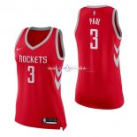 Maillot Femme Houston Rockets No.3 Chris Paul Rouge Icon