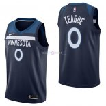 Maillot Minnesota Timberwolves Nike NO.0 Jeff Teague Marine Icon