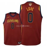 Maillot Enfants Cleveland Cavaliers Finales Champions 2018 NO.0 Kevin Love Rouge Icon Patch