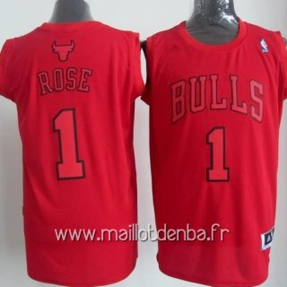 Maillot Chicago Bulls 2012 Noël No.1 Rose Rouge