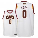 Maillot Enfants Cleveland Cavaliers Finales Champions 2018 NO.0 Kevin Love Blanc Association Patch