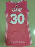 Maillot Femme Golden State Warriors No.30 Stephen Curry Rose