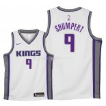 Maillot Enfants Sacramento Kings NO.9 Iman Shumpert Blanc Association 2018