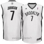 Maillot Brooklyn Nets No.7 Earvin Johnson Blanc