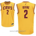 Maillot Cleveland Cavaliers No.2 Kyrie Irving Jaune