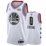 Maillot 2019 All Star NO.0 DeMarcus Cousins Blanc