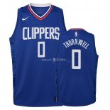 Maillot Enfants Los Angeles Clippers NO.0 Sindarius Thornwell Bleu Icon 2018