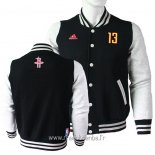 Veste En Laine Houston Rockets No.13 James Harden Noir