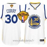 Maillot Golden State Warriors Finales No.30 Curry Blanc