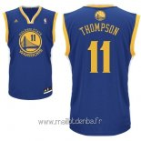 Maillot Golden State Warriors No.11 Klay Thompson Bleu