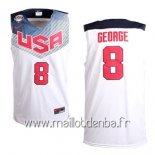 Maillot 2014 USA George No.8 Blanc