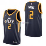 Maillot Utah Jazz Nike NO.2 Joe Ingles Marine Icon