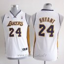 Maillot Enfants L.A.Lakers No.24 Kobe Bryant Blanc