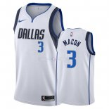 Maillot Dallas Mavericks Nike NO.3 Daryl Macon Blanc Association 2018