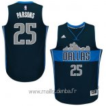 Maillot Dallas Mavericks No.25 Chandler Parsons Bleu Profond
