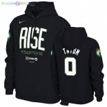 Hoodies Boston Celtics NO.0 Jayson Tatum Noir