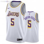 Maillot Los Angeles Lakers Nike NO.5 Talen Horton Tucker Blanc Association 2019-20