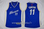 Maillot Enfants 2015 Noël Golden State Warriors No.11 Klay Thompson Bleu