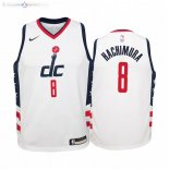 Maillot NBA Enfant Washington Wizards NO.8 Rui Hachimura Nike Blanc Ville 2019-20