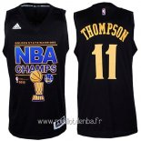 Maillot Golden State Warriors Finales No.11 Thompson Noir