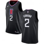 Maillot Los Angeles Clipper Nike NO.2 Kawhi Leonard Noir Statement 2019-20
