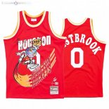Maillot NBA Houston Rockets X Travis Sott NO.0 Russell Westbrook Rouge Hardwood Classics
