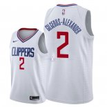 Maillot Los Angeles Clippers Nike NO.2 Shai Gilgeous Alexander Blanc Association 2018