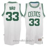 Maillot Boston Celtics No.33 Larry Joe Bird Blanc