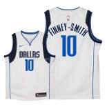 Maillot Enfants Dallas Mavericks NO.10 Dorian Finney Smith Blanc Association 2018