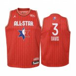 Maillot Enfant 2020 All Star NO.3 Anthony Davis Rouge