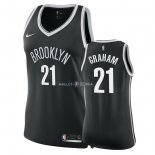 Maillot Femme Brooklyn Nets NO.21 Treveon Graham Noir Icon 2018