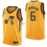 Maillot Utah Jazz Nike NO.6 Joe Johnson Jaune Statement