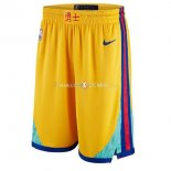 Pantalon Golden State Warriors Nike Jaune Ville