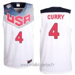 Maillot 2014 USA Curry No.4 Blanc