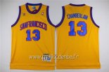 Maillot Golden State Warriors No.13 Wilt Chamberlain Jaune