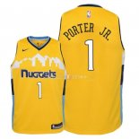 Maillot Enfants Denver Nuggets NO.1 Michael Porter Jr Jaune Statement 2018