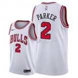 Maillot Chicago Bulls Nike NO.2 Jabari Parker Blanc Association